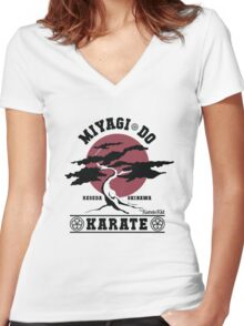 Karate Kid - Miyagi Do Women's Fitted V-Neck T-Shirt