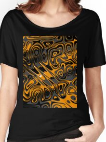Swirls and Spots - Orange  Women's Relaxed Fit T-Shirt