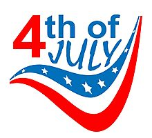 Happy 4Th of July  Photographic Print