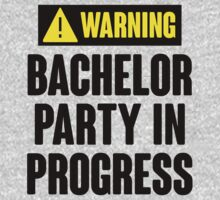 Warning! Bachelor Party In Progress by 2E1K