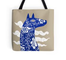 The Water Horse in Blue and White Tote Bag