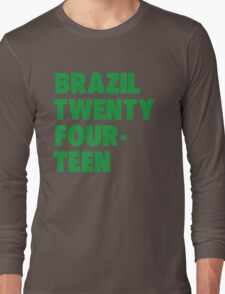 Team Brazil for the World Cup 2014 Long Sleeve T-Shirt