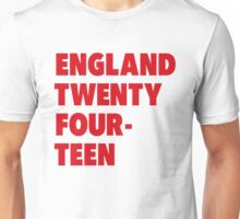 Team England for the World Cup 2014 Unisex T-Shirt