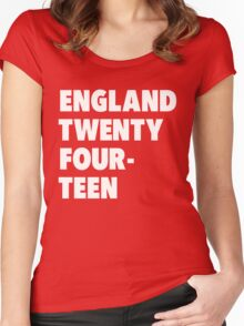 Team England for the World Cup 2014 Women's Fitted Scoop T-Shirt