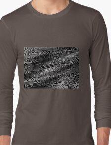 Swirls and Spots - Gray Long Sleeve T-Shirt