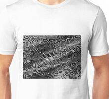 Swirls and Spots - Gray Unisex T-Shirt