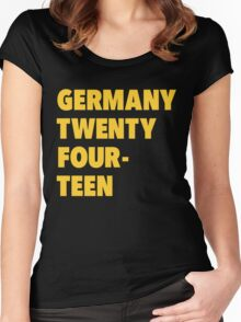 Team Germany for the World Cup 2014 Women's Fitted Scoop T-Shirt