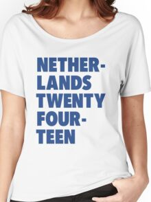 Team Netherlands for the World Cup 2014 Women's Relaxed Fit T-Shirt