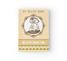Lemon Retro Recipe Book  Hardcover Journal