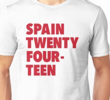 Team Spain for the World Cup 2014 Unisex T-Shirt