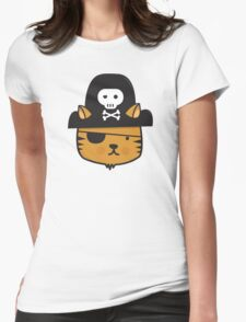 Pirate Cat - Jumpy Icon Series Womens Fitted T-Shirt