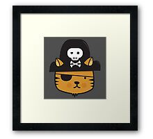 Pirate Cat - Jumpy Icon Series Framed Print