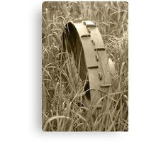 Abandoned Steel Farm Implement Wheel Canvas Print