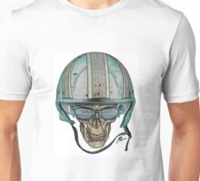 Undead Biker Skull Zombie with Glasses Unisex T-Shirt