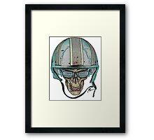 Undead Biker Skull Zombie with Glasses Framed Print
