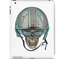 Undead Biker Skull Zombie with Glasses iPad Case/Skin