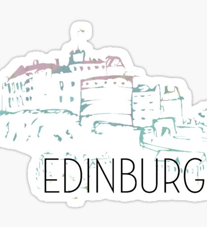 Pastel Edinburgh Castle Sticker