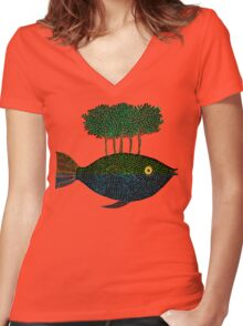 This Island Earth Women's Fitted V-Neck T-Shirt