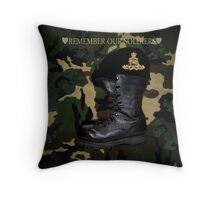 REMEMBER OUR SOLDIERS HEARTFELT TRIBUTE THROW PILLOW Throw Pillow