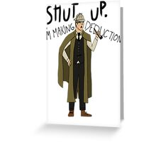 Doctor Holmes Greeting Card