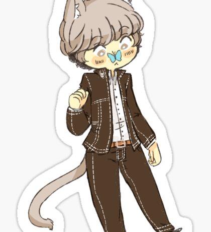 Small Kitty Souji Sticker