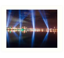 DARK MOFO - Articulated Intersect lightshow Art Print