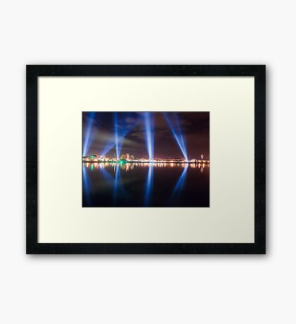 DARK MOFO - Articulated Intersect lightshow Framed Print