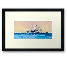 Fishing Trawler at Honeymoon Bay, Moreton Island, Australia Framed Print