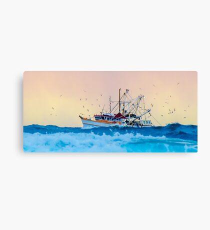 Fishing Trawler at Honeymoon Bay, Moreton Island, Australia Canvas Print