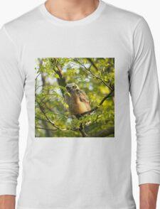 A peek between the leaves Long Sleeve T-Shirt