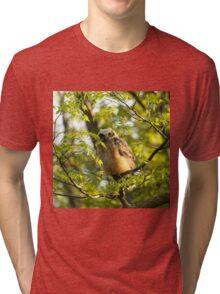A peek between the leaves Tri-blend T-Shirt