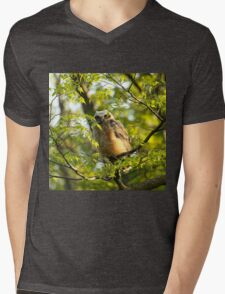 A peek between the leaves Mens V-Neck T-Shirt