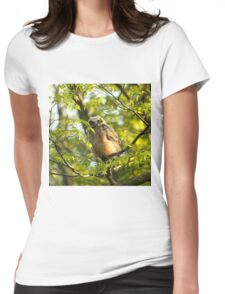 A peek between the leaves Womens Fitted T-Shirt