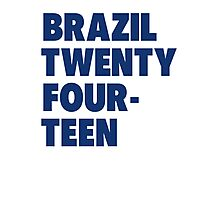 Team Brazil for the World Cup 2014 Photographic Print