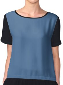 Queen Blue Chiffon Top