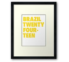 Team Brazil for the World Cup 2014 Framed Print