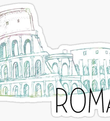 Pastel Rome Coliseum Sticker