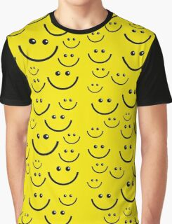 smile pattern Graphic T-Shirt