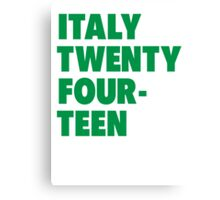 Team Italy for the World Cup 2014 Canvas Print