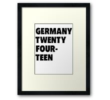 Team Germany for the World Cup 2014 Framed Print