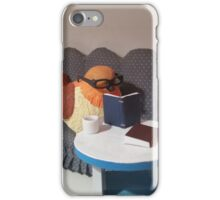 Leo Reads on the TBR Shelf iPhone Case/Skin