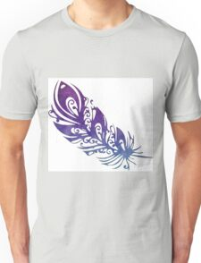 Purple Watercolor Feather Unisex T-Shirt