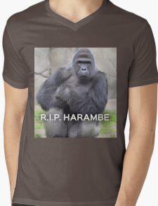 Harambe Mens V-Neck T-Shirt
