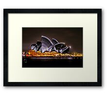 Sydney Opera House at Vivid 2014 Framed Print