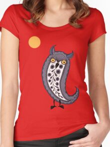 Paisley Owl Women's Fitted Scoop T-Shirt