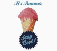Ice Cream Summer One Piece - Short Sleeve