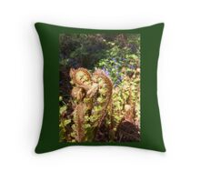 fairies down the garden  Throw Pillow