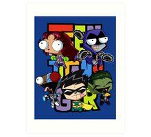 Teen Titans Gir! Art Print