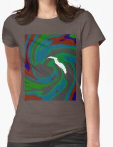 The Bird - Green Blue Womens Fitted T-Shirt