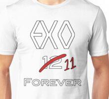 EXO 11 forever white letters Unisex T-Shirt